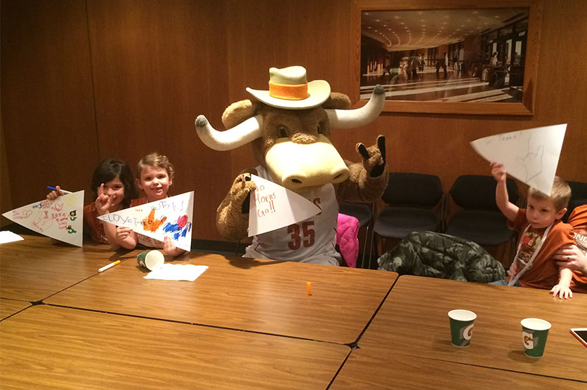 Kids show their creativity at a Longhorns Kids Club party - March 2015